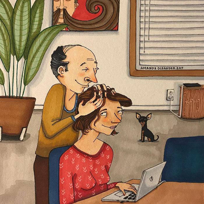 Ilustraciones-dibujos-relaciones-largas-parejas-reconoceran-tiernos-piojito-mientras-trabajos
