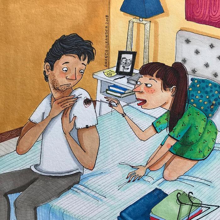 Ilustraciones-dibujos-relaciones-largas-parejas-reconoceran-tiernos-ropa-rota