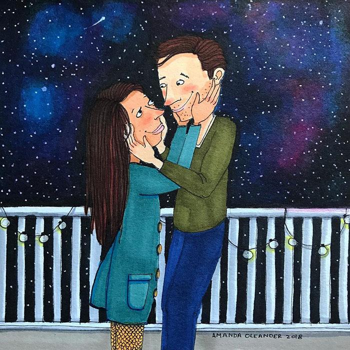 Ilustraciones-dibujos-relaciones-largas-parejas-reconoceran-tiernos-verse-ojos
