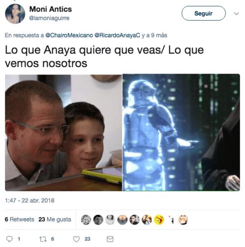 Ricardo anaya hizo un holograma con su hijo mateo