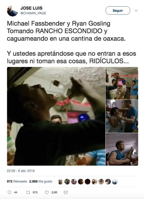 Ryan Gosling y Michael Fassbender no estaban en Oaxaca