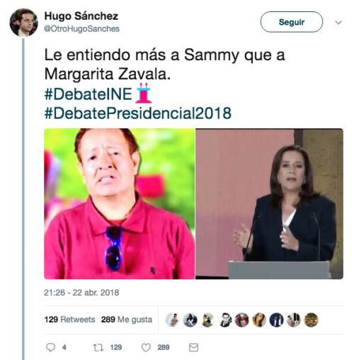 Margarita Zavala en el debate presidencial