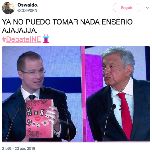 Memes de Andrés Manuel en el debate