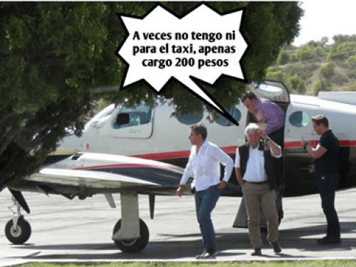 AMLO es criticado por la renta de avioneta