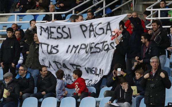 Pancartas futboleras muy vaciladoras
