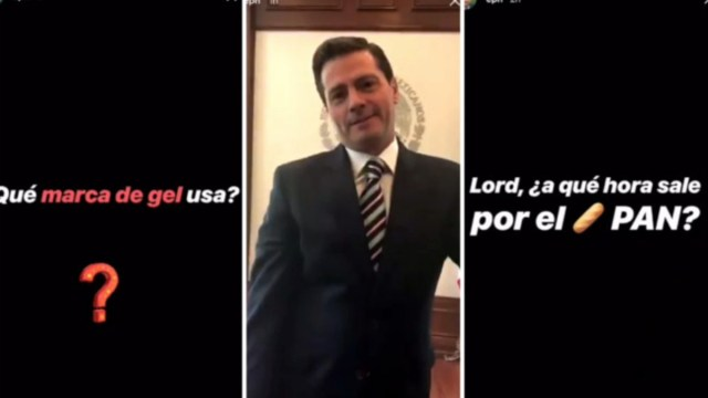 Enrique Peña Nieto responde Gel Instagram Stories