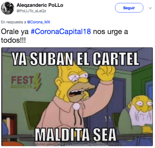 Reacciones corona capital 2018