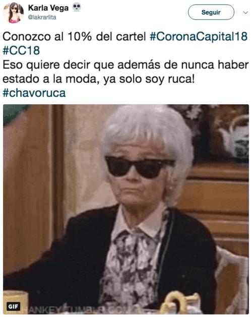 Reacciones Corona Capital 2018