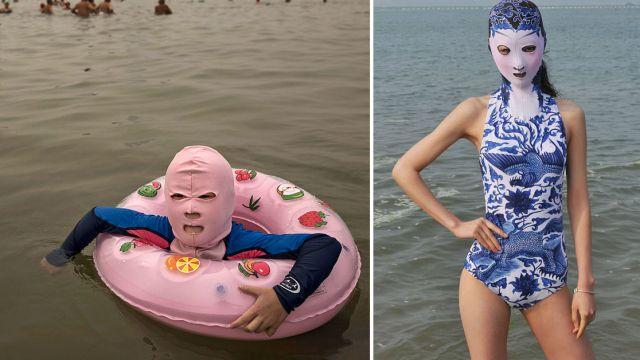 modelos-usando-moda-idiota-china-facekini-bikini-cara