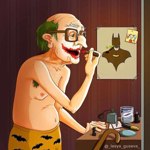 Artista rusa ilustra cómo es la vejez de tus personajes favoritos