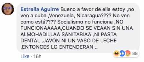 Reacciones al video de Alicia Otero