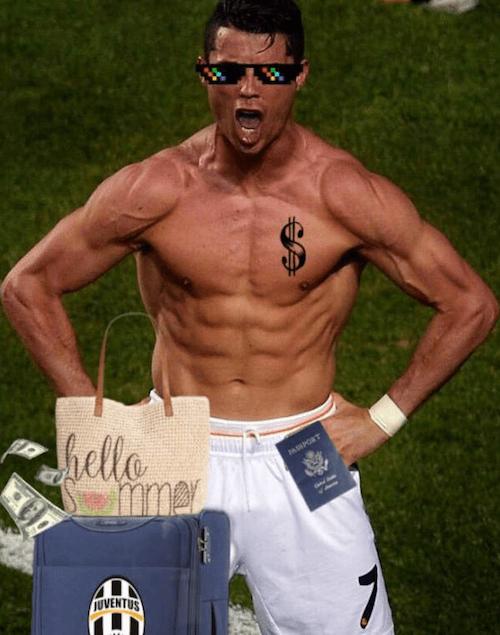 Cristiano Ronaldo deja el Real Madrid y la memiza no se hizo esperar