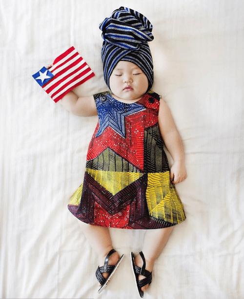 Mamá japonesa transforma las siestas de su hija en fotos increíbles