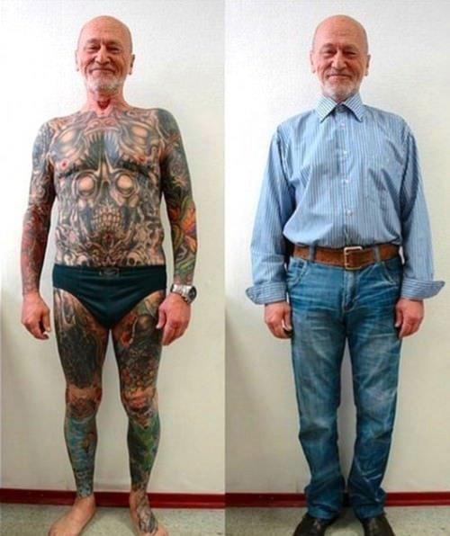 Así se verán tus tatuajes cuando envejezcas