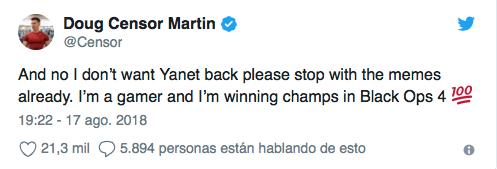 Dejó a Yanet García para ser campeón videojuegos... y perdió