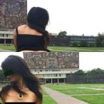 Mujer se toma fotos desnuda en las islas de la UNAM