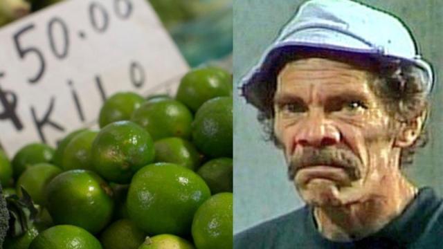 Detienen a sujeto con casi 400 kilos de limones robados