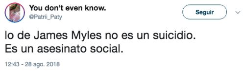 Reacciones al caso de James Myles en Twitter