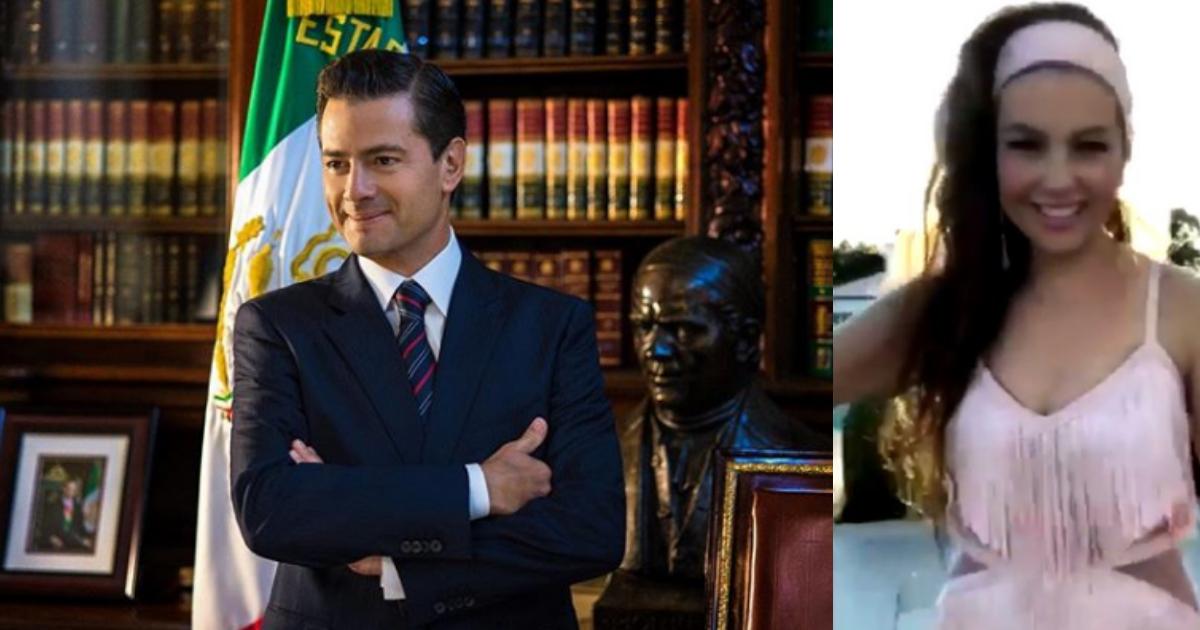 Enrique Peña Nieto Hace Thalía Challenge, Enrique Peña Nieto Thalía, Instagram, Thalía, Thalía Challenge, Enrique Peña Nieto