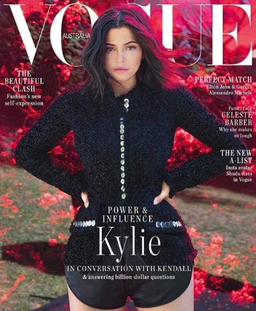 kylie aparece sin maquillaje en la portada de vogue australia