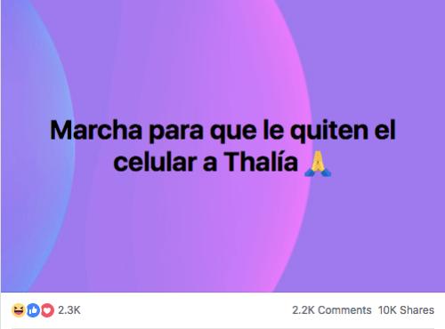 Facebook Marcha Thalia celular