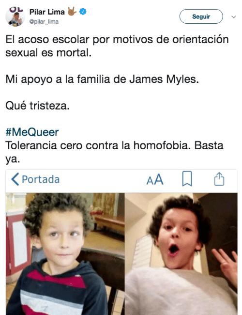 Reacciones a la muerte del caso James Myles