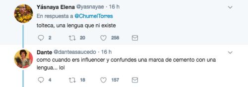Reacciones tweet chumel torres