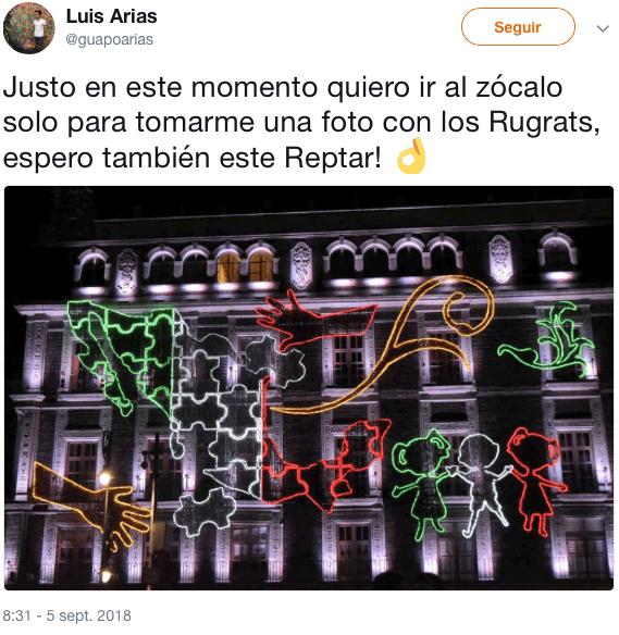 La decoración del Zócalo tiene ¿a Los Rugrats?