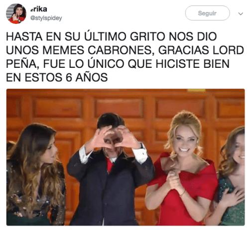 Memes Enrique Peña Nieto Grito de independencia 2018