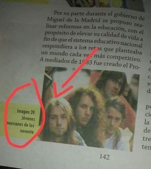 Nirvana aparece en libros de la SEP
