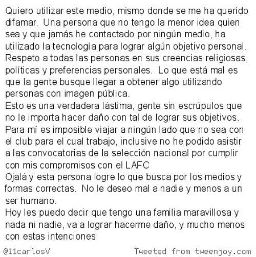 Carlos Vela aclara conversacion con modelo trans