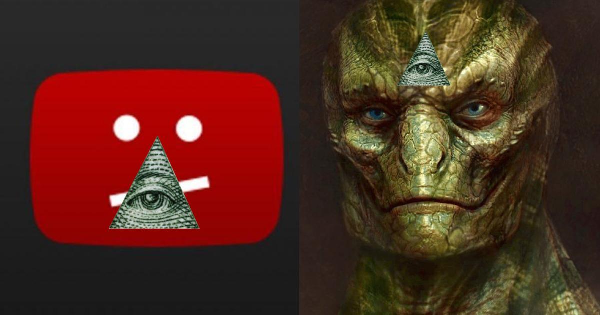 La caída mundial de YouTube fue culpa de los reptilianos