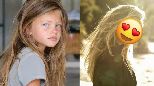 La niña más hermosa del mundo creció y ahora es modelo