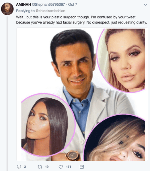 Khloe Kardashian niega cirugías plasticas