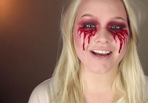 Chica se vuelve viral por su maquillaje sangriento