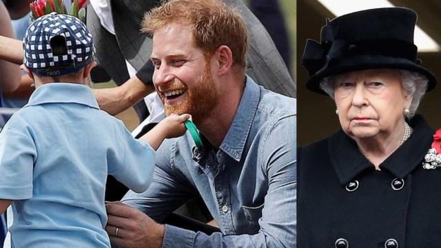 Niño Acaricia Barba Príncipe Harry, Niño Sindrome De Down Acaricia Barba Príncipe Harry, Principe Harry Barba, Principe Harry, Meghan Markle, Dubbo
