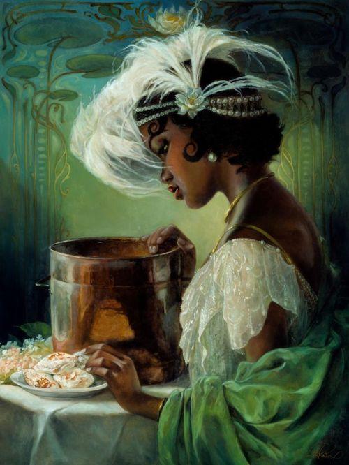 Artista recrea princesas de Disney al óleo