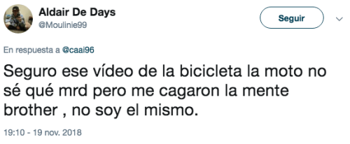 Comentarios video bicicleta y botella