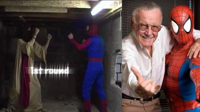 Spider-Man y Jesucristo pelean por el alma de Stan Lee