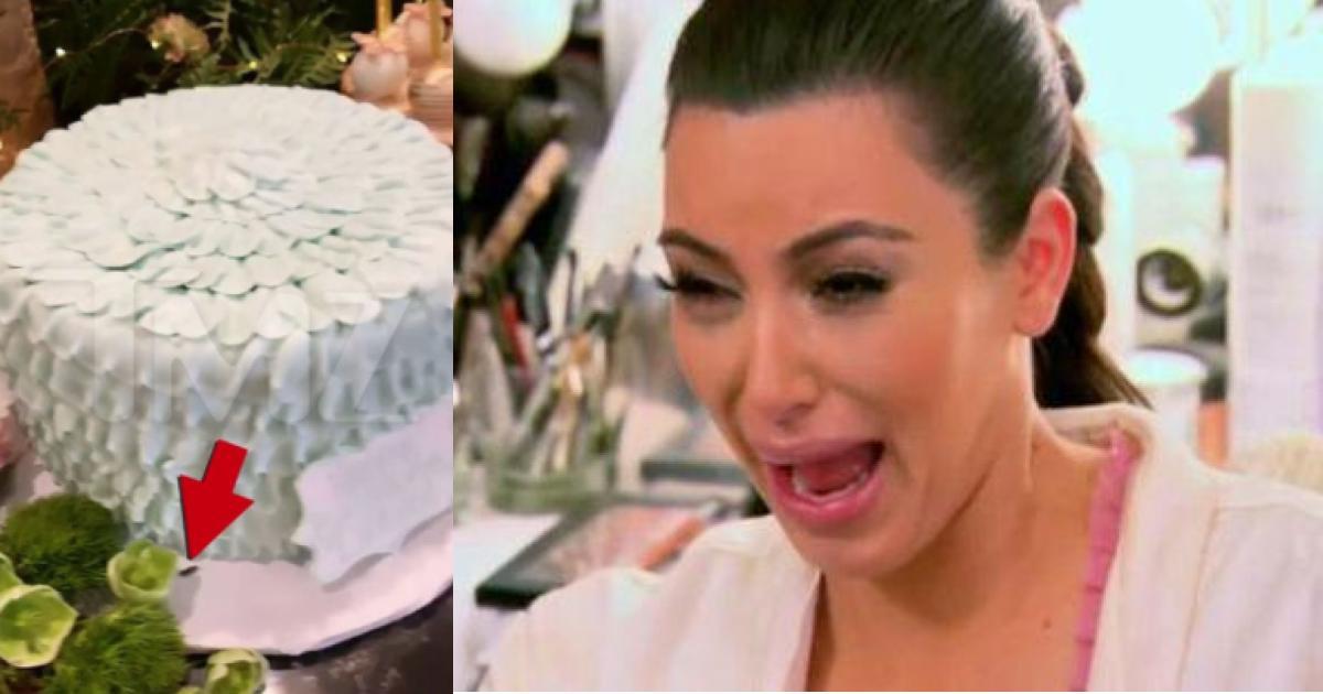 El pastel de Dream Kardashian tenía UNA CUCARACHA