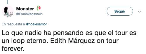 Edith Marquez anuncia concierto sin datos