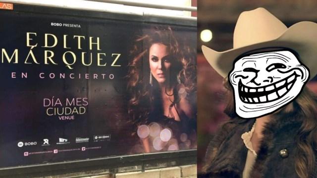 Edith Márquez Anuncio Sin Datos, Edith Márquez Anuncio, Error En Anuncio Edith Márquez, Edith Marquez Concierto, Edith Márquez, Concierto