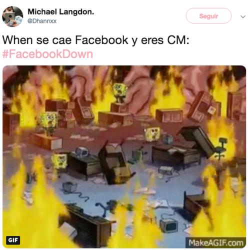 Facebook está caído, no sirve, pero tenemos memes para reír