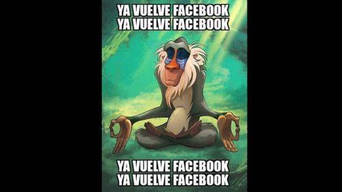 Memes de la caída de Facebook