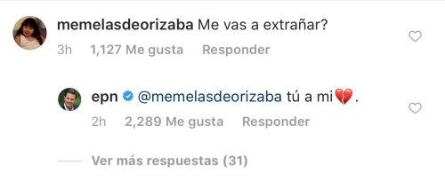 Pena Nieto responde a comentarios en Instagram