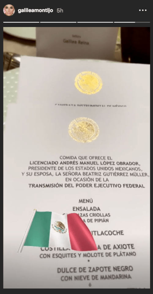 Galilea Montijo asiste a Palacio Nacional a toma de posesión