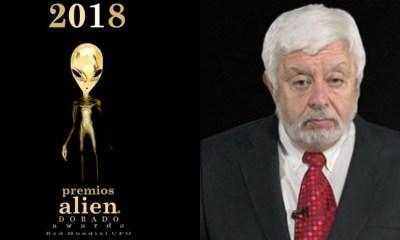 Jaime Maussan Gana Premio Alien Dorado 2018, Jaime Maussan, Premios Alien Dorado 2018, Tecer Milenio, Premio, Aliens