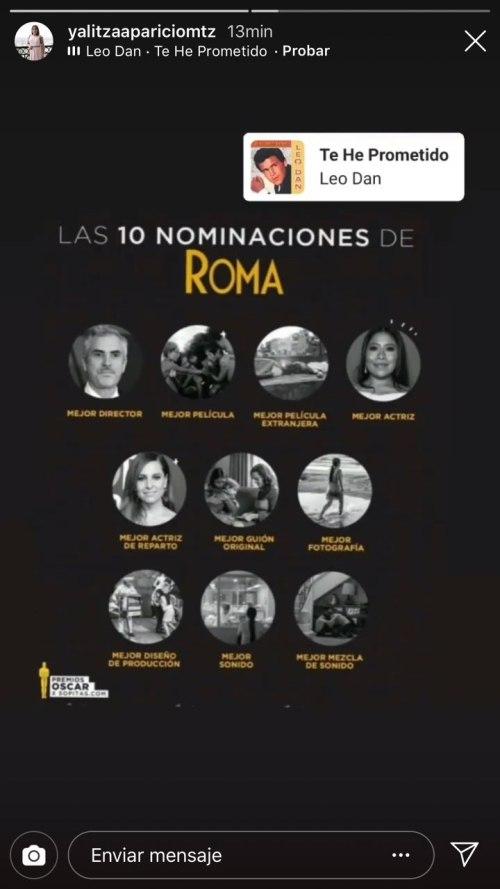 Así festejó Yalitza Aparicio su nominación como mejor actriz en los Oscar