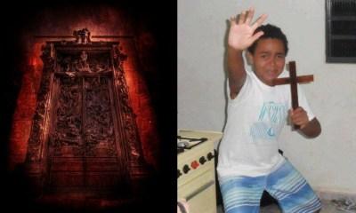 Encontraron la puerta del infierno llena de marcas paganas