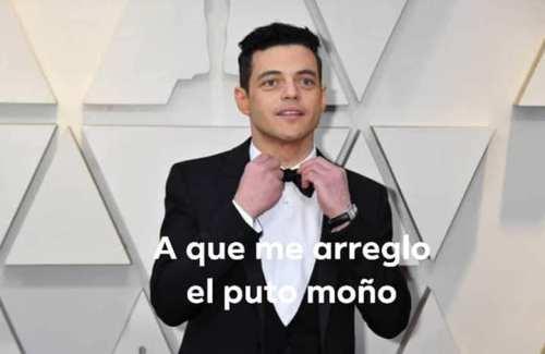 El moño de Rami Malek en los Oscar
